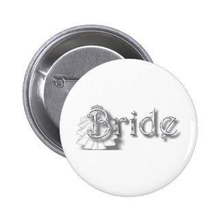 ♥Bride - for Bachlorette Party Shower Honeymoon♥ Pinback Button