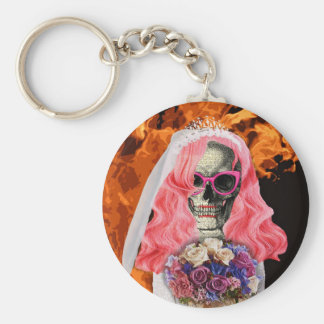 Bride from hell basic round button keychain