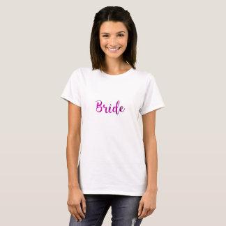 Bride Fuchsia Pink Purple Cute Wedding Bridal T-Shirt