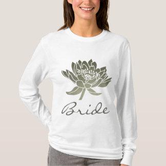 BRIDE GLAMOROUS SILVER LOTUS FLORAL T-Shirt