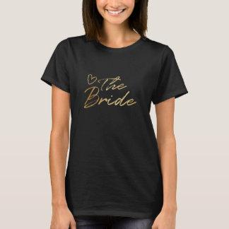 Bride - Gold & black faux foil t-shirt