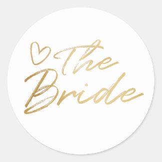 Bride - Gold faux foil sticker