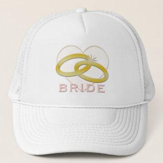 Bride | Gold Wedding Rings Heart Trucker Hat