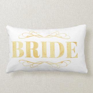 Bride Golden Scroll Lumbar Pillow