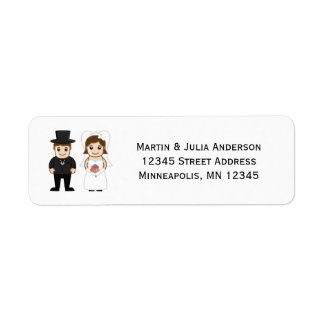 Bride & Groom - Address Labels