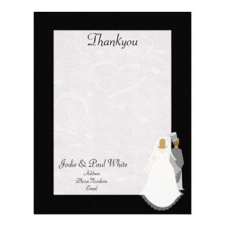Bride & Groom - Black - Thankyou Letterhead