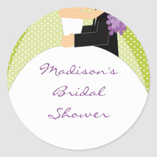 Bride & Groom Bridal Shower Sticker