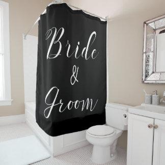Bride & Groom Celebration Shower Curtains