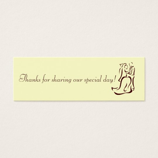 Bride&Groom Champagne Favour Tag