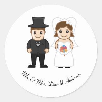 Bride & Groom - Circle Sticker