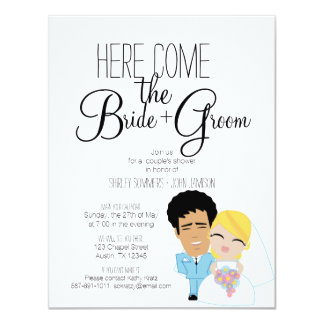 BRIDE & GROOM couple's bridal shower invitation 18