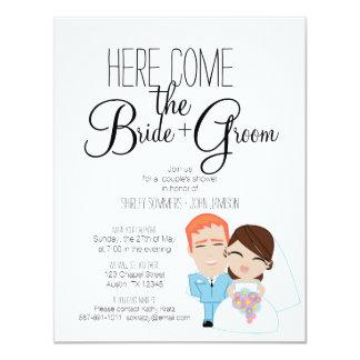 BRIDE & GROOM couple's bridal shower invitation 22