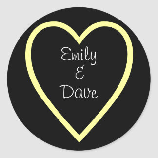 Bride & Groom(Customizable) Classic Round Sticker