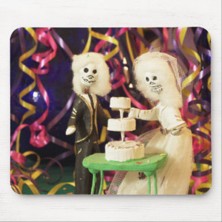 Bride_Groom Day of the Dead Wedding Mouse Pad