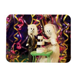 Bride_Groom Day of the Dead Wedding Rectangular Photo Magnet