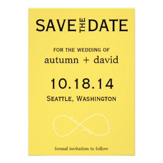Bride Groom Infinity Modern Save the Date Invitations
