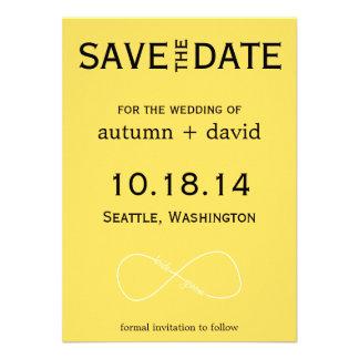Bride Groom Infinity Modern Save the Date Invitations