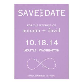 Bride & Groom Infinity Modern Save the Date Custom Invite