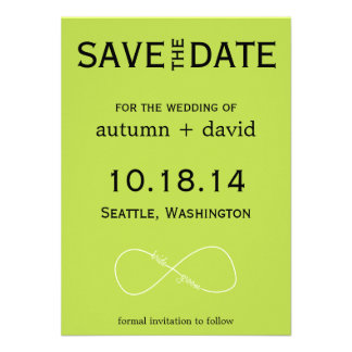Bride Groom Infinity Modern Save the Date Invites
