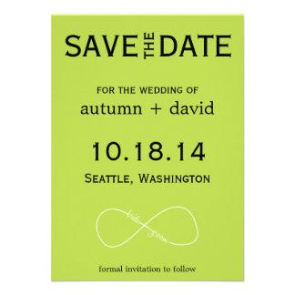 Bride Groom Infinity Modern Save the Date Invites