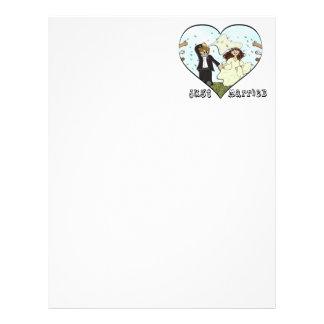 Bride & Groom Just Married Letterhead Template