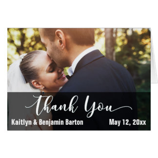 Bride & Groom Photo Thank You Card