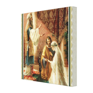 Bride & Groom Priest Wedding Engagement Canvas Print
