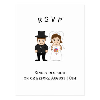 Bride & Groom - RSVP Post Card