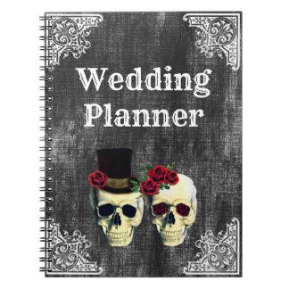 Bride & Groom Skull Wedding Planner Notebook