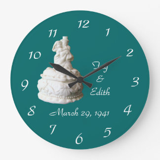Bride & Groom topper Clock- customize Wallclocks