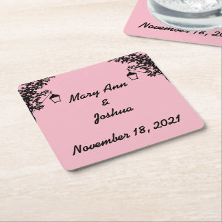 Bride & Groom Tree Lantern Coasters
