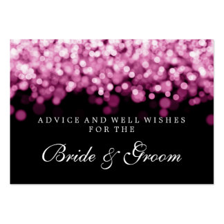 Bride & Groom Wedding Advice Card Pink Lights Business Card