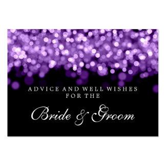 Bride & Groom Wedding Advice Card Purple Lights Business Card