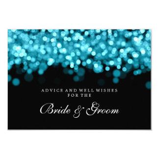 "Bride & Groom Wedding Advice Card Turquoise Lights 3.5"" X 5"" Invitation Card"