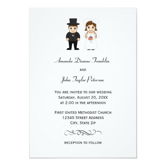 Bride & Groom - Wedding Invitation