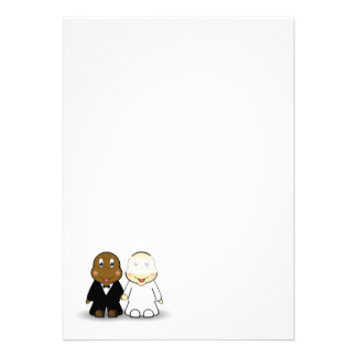 Bride Groom Wedding Invitation Blank
