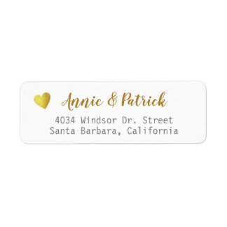 bride groom wedding mailing return address