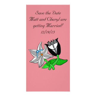 Bride Groom Wedding Photo Card Customize