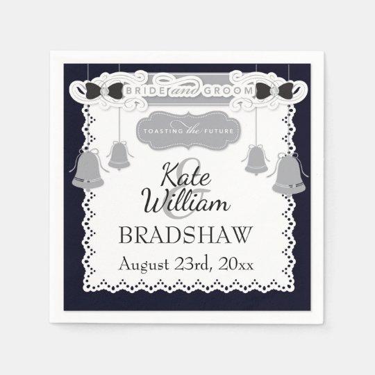 Bride/Groom Wedding Reception Customizable PAPER Paper Napkins