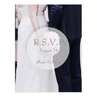 Bride & Groom Wedding RSVP Postcard