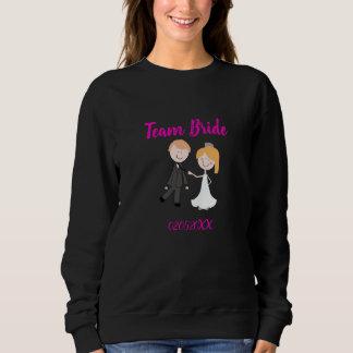 bride groom wedding team sweatshirt