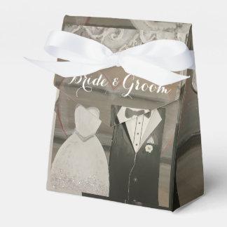 Bride & Groom Wedding Tent Favor Box