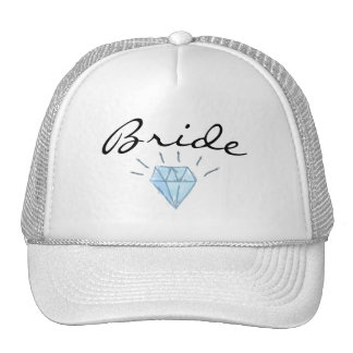 Bride Hat - brim and diamond art