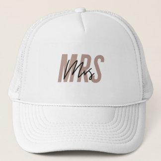 Bride Hat | Mrs Hat | Honeymoon Hat - Dark Pink