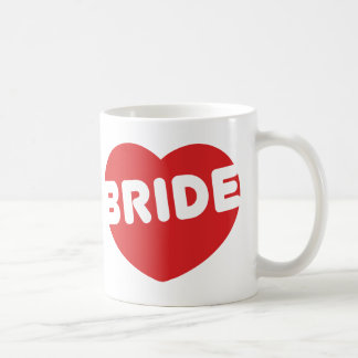 BRIDE Heart - Bachelorette Party Classic White Coffee Mug