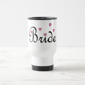 Bride Hearts 15 Oz Stainless Steel Travel Mug
