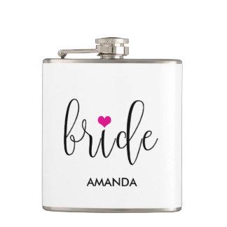 Bride  Hot Pink Cute Bridal Shower Flask