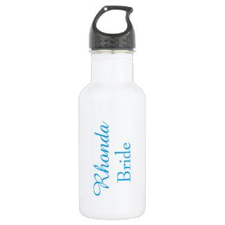 Bride in blue 532 ml water bottle