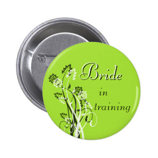 Bride in Training Pin - Chartreuse