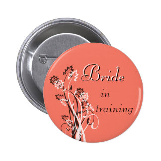 Bride in Training Pin - Coral